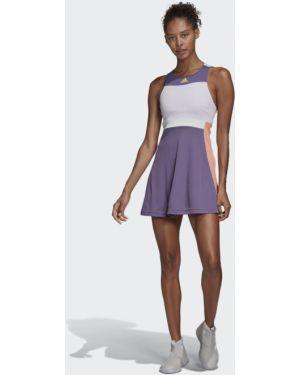 Спортивное теннисное платье сетчатое с сеткой Adidas