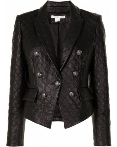 Черная стеганая длинная куртка из овчины Veronica Beard