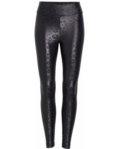 Трикотажные компрессионные черные леггинсы Koral Activewear