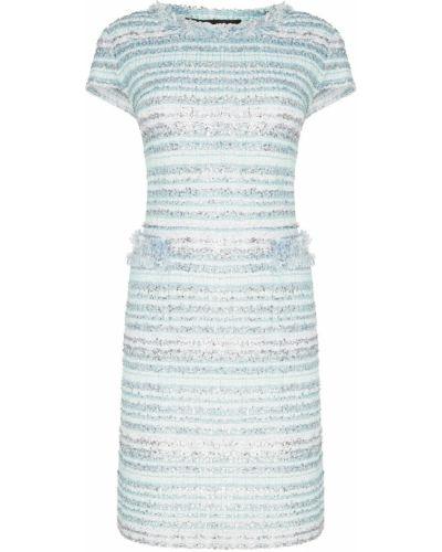 Платье мини с бахромой с люрексом St. John