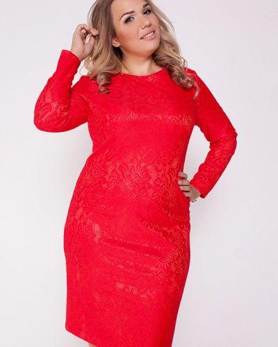 Красное коктейльное платье Eliseeva Olesya