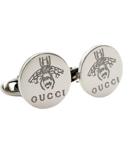 Spinki do mankietów srebrne - szare Gucci