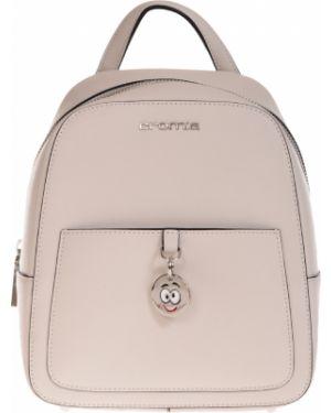 Кожаный рюкзак - бежевый Cromia