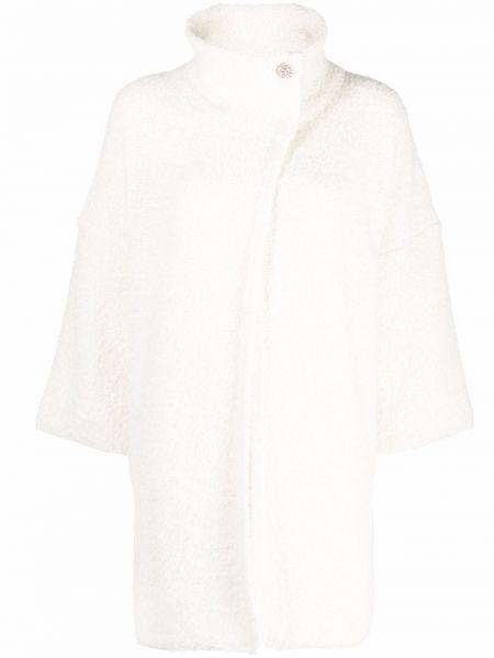 Белое пальто из альпаки Liu Jo