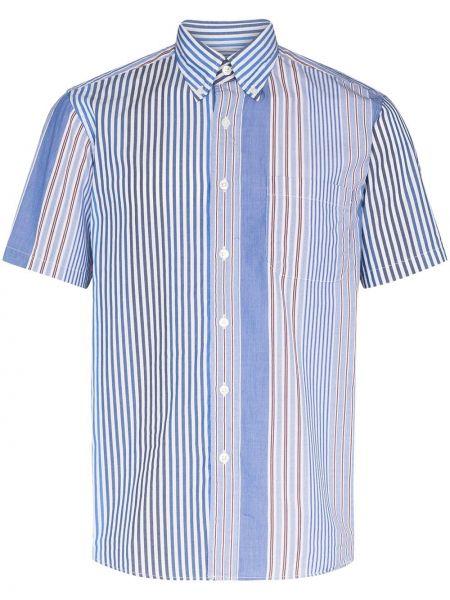 Хлопковая синяя рубашка на пуговицах Sophnet.