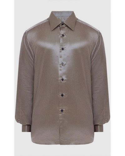 Шелковая рубашка - синяя Stefano Ricci