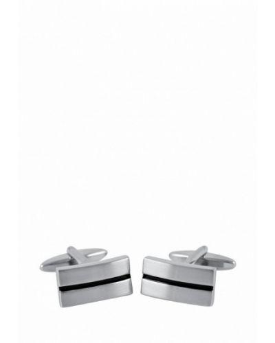 Запонки из серебра серебряный Lindenmann