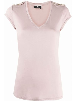 Розовая футболка короткая Elisabetta Franchi