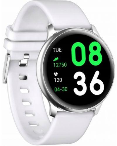 Czarny sport zegarek sportowy srebrny Gino Rossi