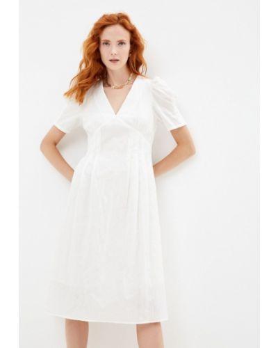 Бежевое весеннее платье Doroteya