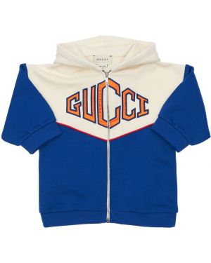 Bluza z logo z haftem Gucci