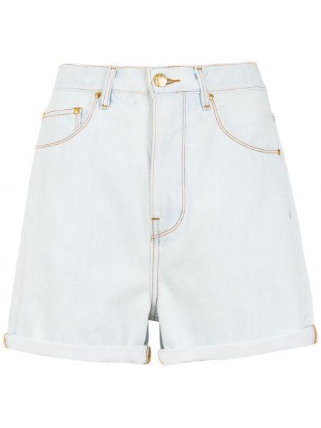 Белые джинсовые шорты с карманами со стразами Amapô