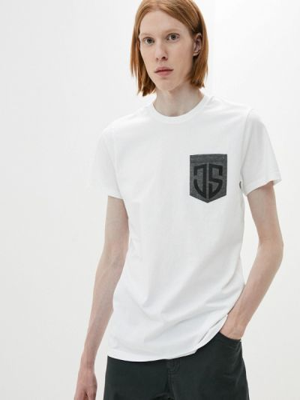 Белая футболка с короткими рукавами Jimmy Sanders