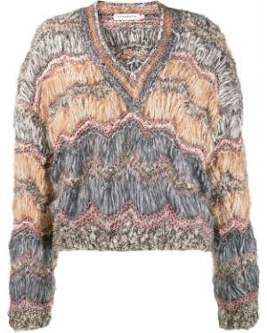 Вязаный свитер со спущенными плечами из мохера Oneonone