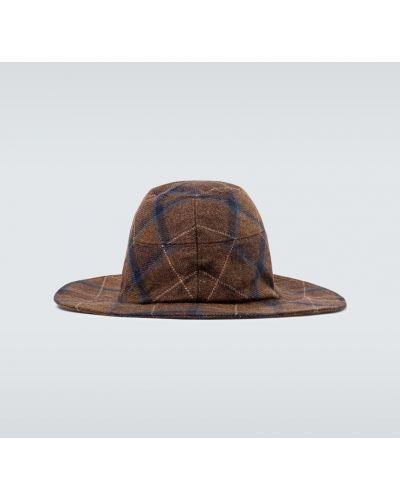 Brązowy kapelusz wełniany Undercover
