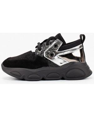 Кроссовки замшевые черные Mallanee