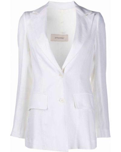 Однобортный белый удлиненный пиджак с карманами Gentry Portofino