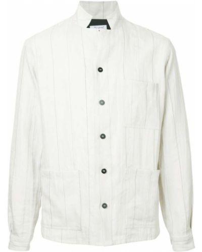 Рубашка с длинным рукавом льняная в клетку Bergfabel