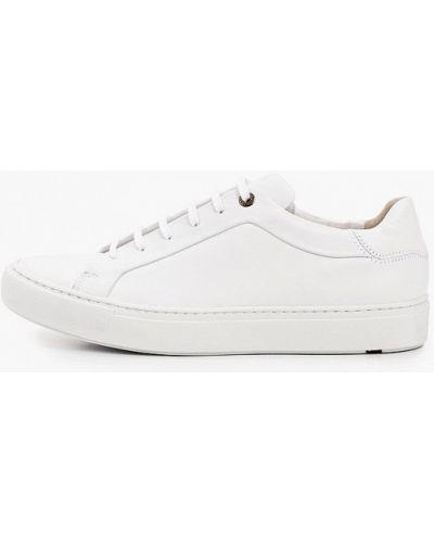 Кожаные белые низкие кеды Lloyd