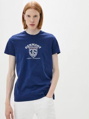Синяя футболка с короткими рукавами Jimmy Sanders