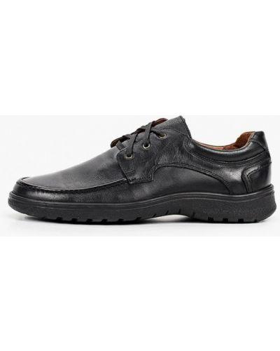 Черные кожаные туфли Valser