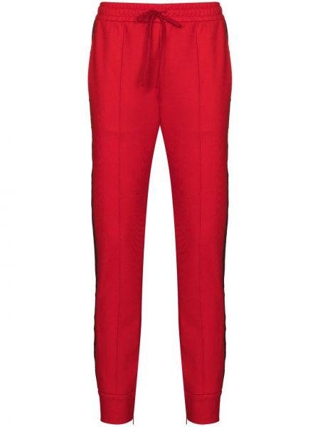Ze sznurkiem do ściągania bawełna spodnie w paski z boku z kieszeniami z paskami Gucci