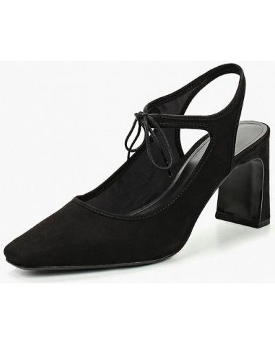 Замшевые туфли с открытой пяткой осенние Mango