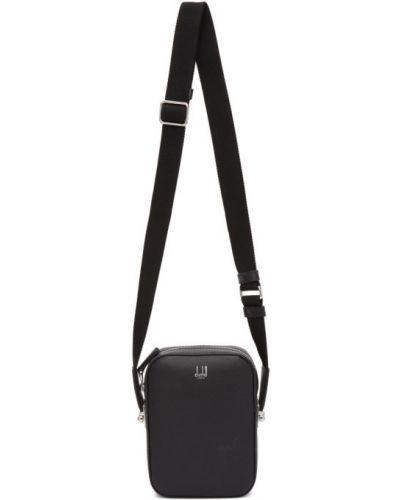 Czarna torebka skórzana miejska Dunhill