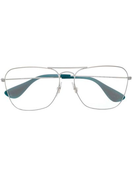 Oprawka do okularów ze srebra khaki Ray-ban