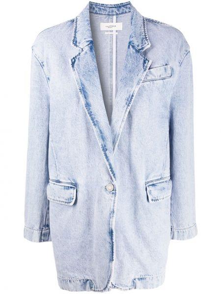 Синий джинсовая куртка оверсайз с карманами Isabel Marant étoile
