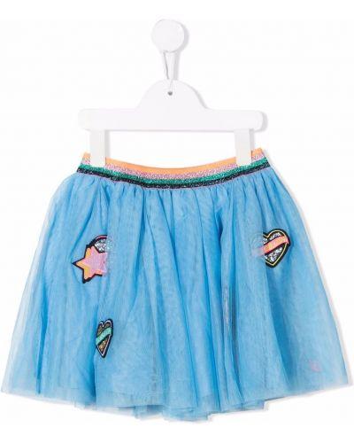 Niebieska brokatowa spódnica Billieblush