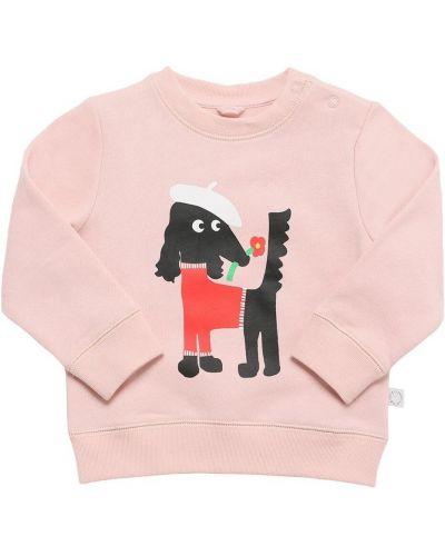Хлопковый свитшот - розовый Stella Mccartney Kids