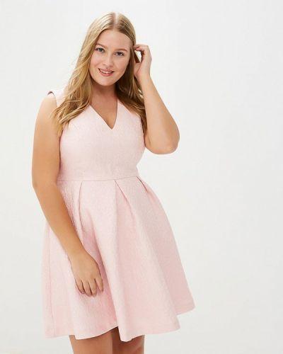Платье осеннее розовое Yumi