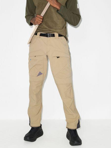 Прямые брючные прямые брюки хаки Klättermusen