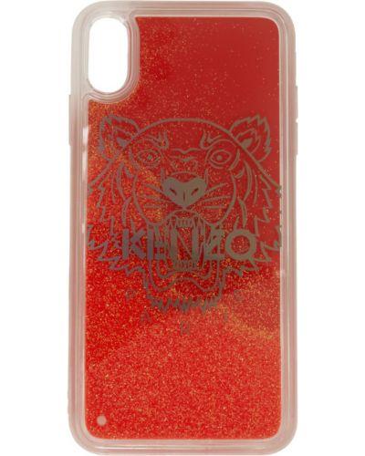 Красная ключница прозрачная с глиттером Kenzo