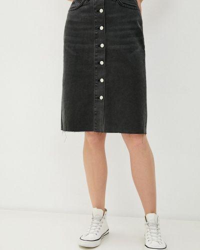 Черная джинсовая юбка Trendyol