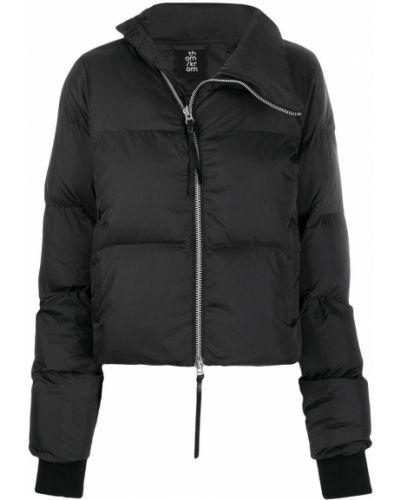 Прямая черная дутая куртка Thom Krom