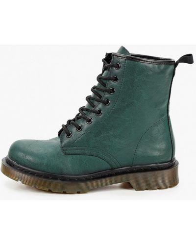 Зеленые кожаные ботинки Martin Pescatore