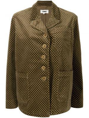 Brązowa kurtka z printem Ymc