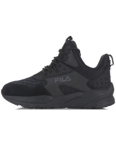 Черные высокие кроссовки Fila