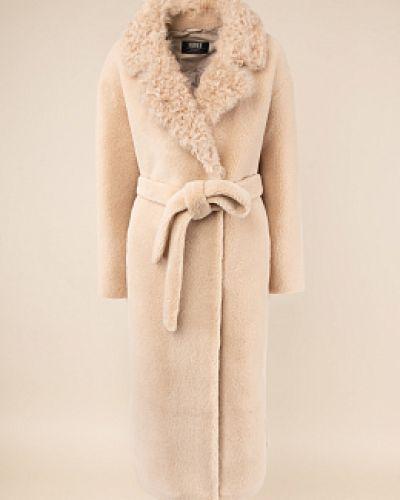 Шерстяное пальто - бежевое каляев