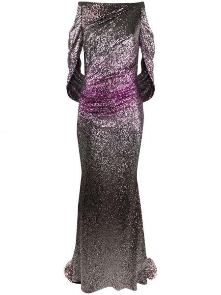 Вечернее платье длинное - розовое Talbot Runhof