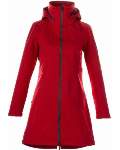 Пальто с капюшоном - красное Huppa