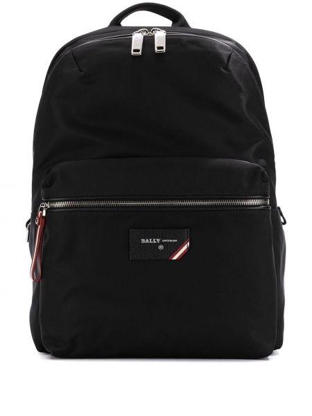Кожаный черный рюкзак на бретелях с карманами Bally