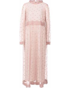 Платье в горошек с вышивкой Vera Moni