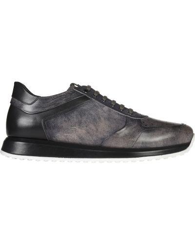 Кожаные кроссовки - серые Franceschetti
