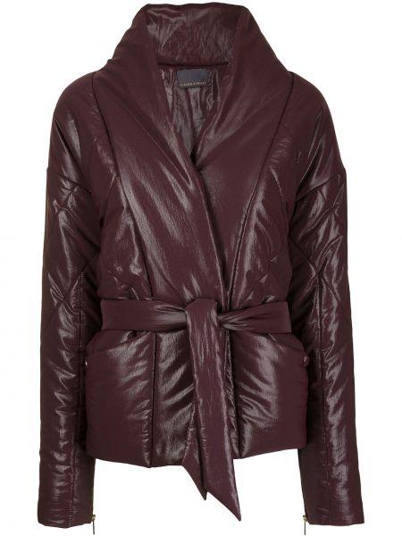 Фиолетовая длинная стеганая куртка Ginger & Smart