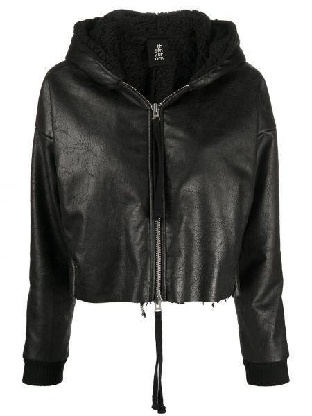 Черная куртка с капюшоном на молнии Thom Krom