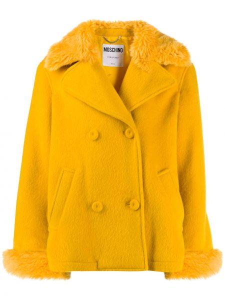Длинная куртка оверсайз жёлтая Moschino