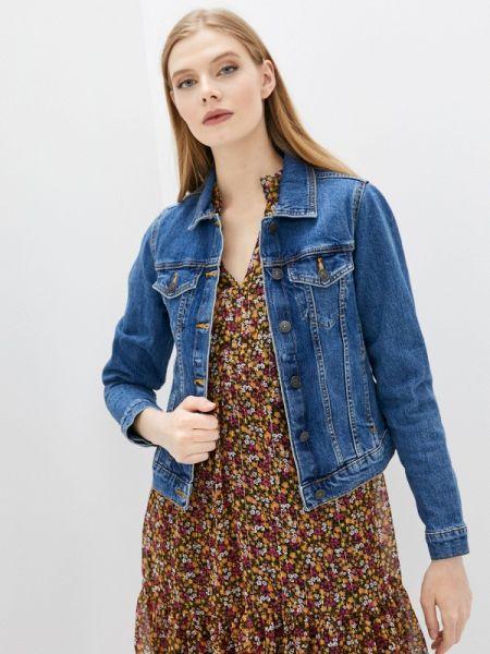 Джинсовая куртка весенняя синий Pimkie